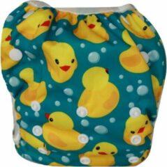 Blauwe Blije Billetjes Nieuw!! Wasbare Zwemluier Groot Badeendjes