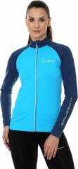 Brubeck Sportvest Dames - Athletic Trainingsjack - Seamless - Azuurblauw/Blauw - S