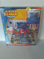 Blauwe DC Comics Justice League Marvel dekbedovertrek -1 persoons - 135 x 200 cm + 1 kussensloop 48 x 74 cm