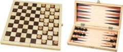 HOT Games Buffalo Dam- en backgammonset - veldmaat 30mm - 29 x 14,5 x 4.5 cm
