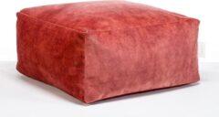 Laui lounge Velvet - Vierkante Poef - Indoor - Blush, Roze - 68 x 68 x 34 cm