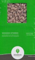 Biodore Houten roerstaafje - 1 x 11 cm - 1.000 stuks