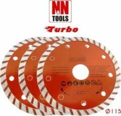 N&N Tools Turbo Diamantdoorslijpschijf Professional Multi Pack - 3 x 115 mm | Wet & Dry