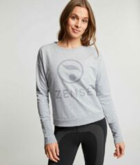 Zense Sportswear Zense - Dames sweat shirt Margot - Lichtgrijs - XL
