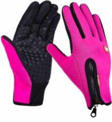 Fean Touch Handschoenen – Touchvinger Handschoenen – Touchscreen Handschoenen – Ski/Snowboard/Fiets/Outdoor Handschoenen – Thermo – Stretch – Fleece – Unisex – Maat M - Roze
