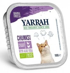 Yarrah brokjes in saus biologische kip en kalkoen, kuipje - 16x 100 gr