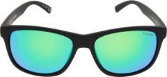 ICON Sport Zonnebril FAZER - Mat zwart montuur - Groen / blauw spiegelende glazen - GEPOLARISEERD