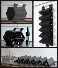Zwarte ZEbag® wijnrek wijntas