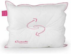 Cinderella New Classic Synthetisch Zacht Hoofdkussen - 100% Ecodown Holle Polyester Vezel - Wit