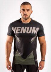 Groene Venum ONE FC Impact Dry Tech T-shirt Zwart Kaki Kies uw maat: S
