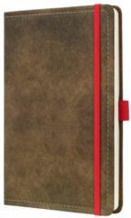 !weekagenda Sigel Conceptum design vintage bruin A5 192 blz. 80g 2 Pag. = 1 Week