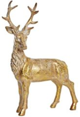 Dekofigur Hirsch goldfarben, Polyresin, ca. H27 cm