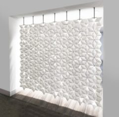 Bloomming Hangend Kamerscherm Facet 238x230cm (bxh) - Wit