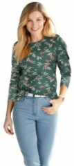 Groene Classic Basics shirt met print