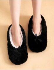 Sorprese cosy – pantoffels dames – zwart – maat 39-41 – sloffen dames