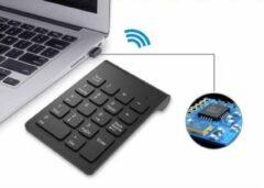 WiseGoods - Premium Draadloze Numpad - Draadloos Numeriek Toetsenbord - 2.4GHz Draadloos - Bluetooth Numpad - Voor Laptop - Zwart