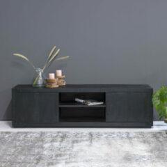 Zwarte LivingFurn TV-meubel 'Jaxx' Mangohout, 180cm