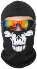 Witte Merkloos / Sans marque Bivakmuts Ski Muts Skull - Muts met schedel print - Skull Balaclava - Model C