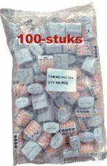 Grijze Produx Wago Lasklem PCT-214 222-414 | 4 Klemposities | 100-Stuks