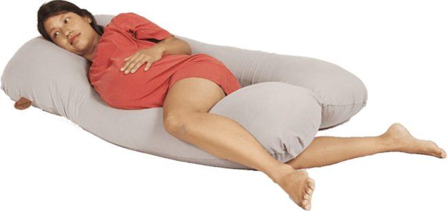 Afbeelding van Licht-grijze Terapy Juliette zwangerschapskussen