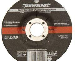 Silverline Robuste Metallschleifscheibe, gekröpft 115 x 6 x 22,23 mm 274905