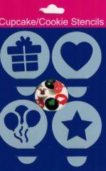 Witte Nona Essentials Cupcake / Koekjes sjablonen - Hart / Ster