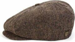 Briton Brixton Brood Snap Cap Pet Bruin Khaki Maat XL