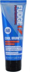 Fudge Care Cool Brunette Blue-toning Shampoo Kleurshampoo Bruin Haar 50ml