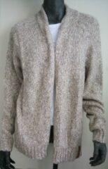 Grijze Moscow Cardigan Vest - Clay Melange - Maat XL