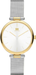 Gouden Danish Design watches edelstalen dameshorloge Rosalyn Two-Tone Gold Mesh IV65Q1269