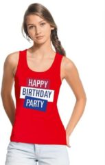Toppers official merchandise Toppers - Rood Toppers Happy Birthday party 2019 officieel singlet/ mouwloos shirt dames - Officiele Toppers in concert merchandise XL