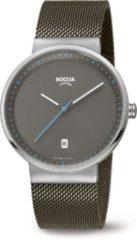 Boccia Titanium 3615.01 horloge - Staal - Grijs - 38 mm