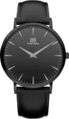 Zwarte Danish Design watches unisexhorloge Shanghai Black Black Large IQ13Q1217