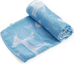 Blauwe Merkloos / Sans marque 3 -PACK BAMBOO MUSLIN 75 x 75 cm - Muslin Swaddle - 100% bamboe inbakerdoek