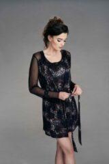 Zwarte Cybéle CYBELE NICHT DONNABELLA Black print Kimono 36