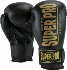 Super Pro Combat Gear Champ SE (kick)bokshandschoenen Zwart/Goud 10oz