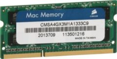 Corsair Microsystems Corsair Mac Memory - DDR3 - 4 GB - SO DIMM 204-PIN CMSA4GX3M1A1333C9