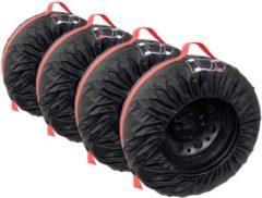 Zwarte Carpoint Bandenhoezen 4 stuks - Voor de Opslag van Winterbanden en Zomerbanden - Bandenhoes - 13 tot 16 Inch