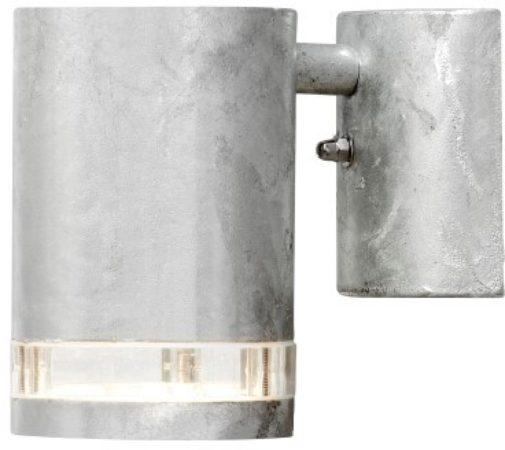 Afbeelding van Roestvrijstalen Konstsmide Modena - Wandspot neerw triade-strip - 230V - GU10 - zink