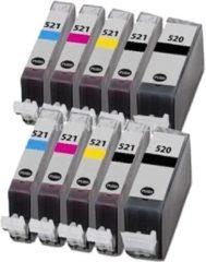 Gele Goedkoopprinten ACTIE: Canon PGI520 / CLI521 inkt cartridges (10-STUKS) Huismerk
