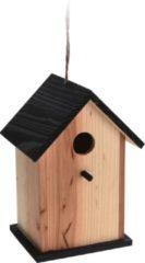 Naturelkleurige Pro Garden Vogelhuisje 22 X 15,5 X 13 Cm Hout Naturel/zwart
