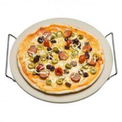 Witte Imperial Kitchen Pizzasteen met serveerrek (33 cm)