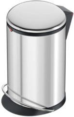 Afvalbak 12 l Hailo Harmony M (Ã x h) 163 mm x 465 mm Zilver Voetpedaal 1 stuks