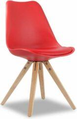 Rousseau Set van 2 stoelen Lady - rood