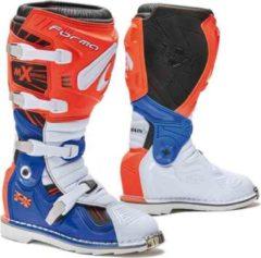 Forma Terrain TX 2.0 Stivali motocross Arancione/Bianco/Blu 42
