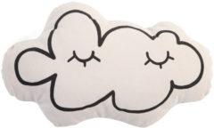 Witte Childhome Sierkussen - Canvas - Wolk