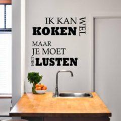 Merkloos / Sans marque Muursticker Ik Kan Wel Koken - Lichtblauw - 120 x 110 cm - keuken nederlandse teksten - Muursticker4Sale