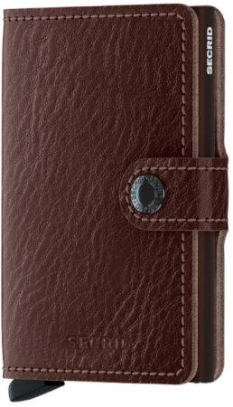 Afbeelding van Bruine Secrid Mini Wallet Portemonnee Veg Espresso / Brown