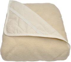 Creme witte TIMZO Texels Comfort Wol Onderdeken - 100% Wol - Tweepersoons - 160x200 cm