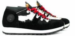 Antraciet-grijze Ammann sneaker in zwart combi materiaal Antraciet 41